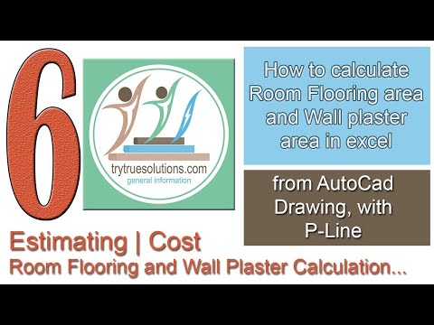 How to calculate Room Flooring area and Wall plaster area in excel