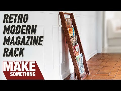 How to Make a Modern Retro Magazine Rack // Woodworking Project