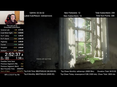The Last Of Us Speedrun (2:52:37) On Grounded Mode (Glitchless)