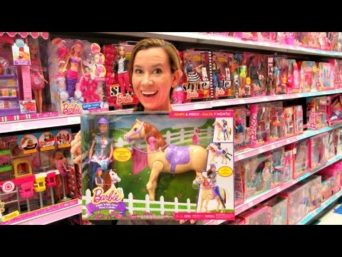TOY HUNTING SHOPPING Ep.47 - Barbie Saddle N Ride Horse, Poppin Pinkie Pie Game, Shopkins Game