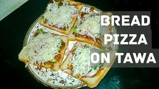 perfect bread pizza on tawa for mid meal cravings -~-~~-~~~-~~-~- Please watch: