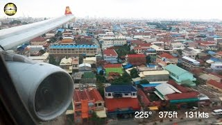 Video STUNNING A330 scenic approach into Phnom Penh on a windy day: Hongkong Airlines [AirClips] MP3, 3GP, MP4, WEBM, AVI, FLV Juli 2018