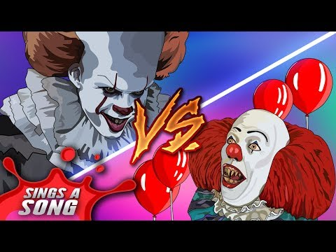 Old Pennywise Vs New Pennywise Rap Battle ('IT' Parody Tim Curry Vs Bill Skarsgard)