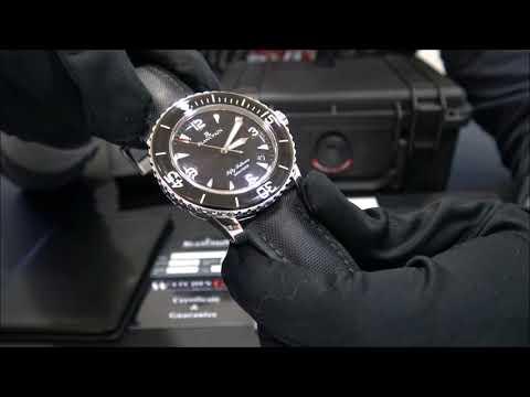 Blancpain Fifty Fathoms 5015 1130 Sapphire Bezel 2010   WatchesGMT