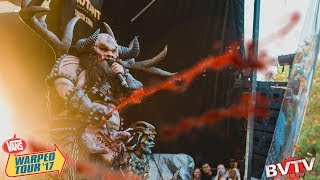 "Watch GWAR perform a cover of AC/DC's classic hit ""If You Want Blood (You've Got It)"" LIVE at Warped Tour 2017 in Las Vegas, ..."