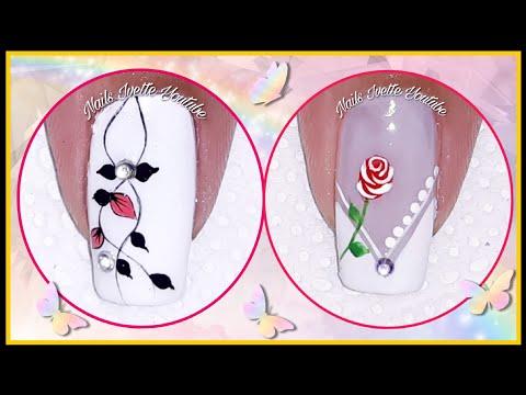 Decoracion de uñas - 2 Decoraciones de uñas sencillas y elegantes muy Fácil de hacer paso a paso/uñas sencillas y bonitas