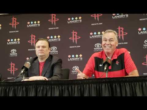 Daryl Morey and Mike D'Antoni - Houston Rockets Media Day 2018