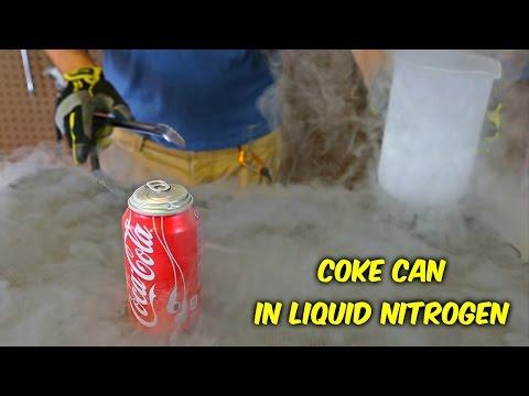 Kur e derdhni azotin e lëngët në kanaçe, ju mund ta hani Coca-Colan!? (Video)