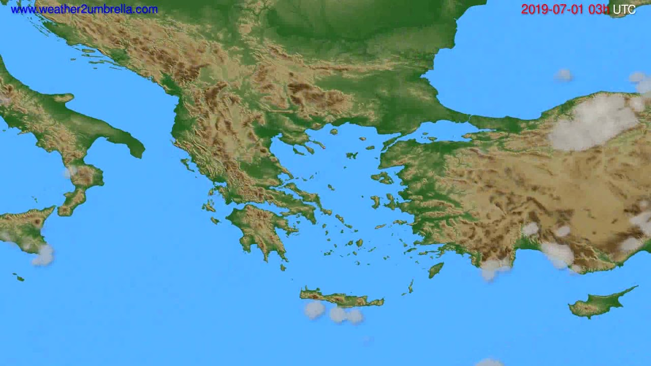 Cloud forecast Greece // modelrun: 00h UTC 2019-06-28