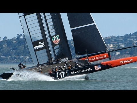 Emirates Team New Zealand - MY FULL AC PLAYLIST: http://goo.gl/baA1i NOAA Wind Data (1100-1400): http://goo.gl/OjSWd Oracle Team USA Emirates Team New Zealand Taken in Full HD (1080p) w...
