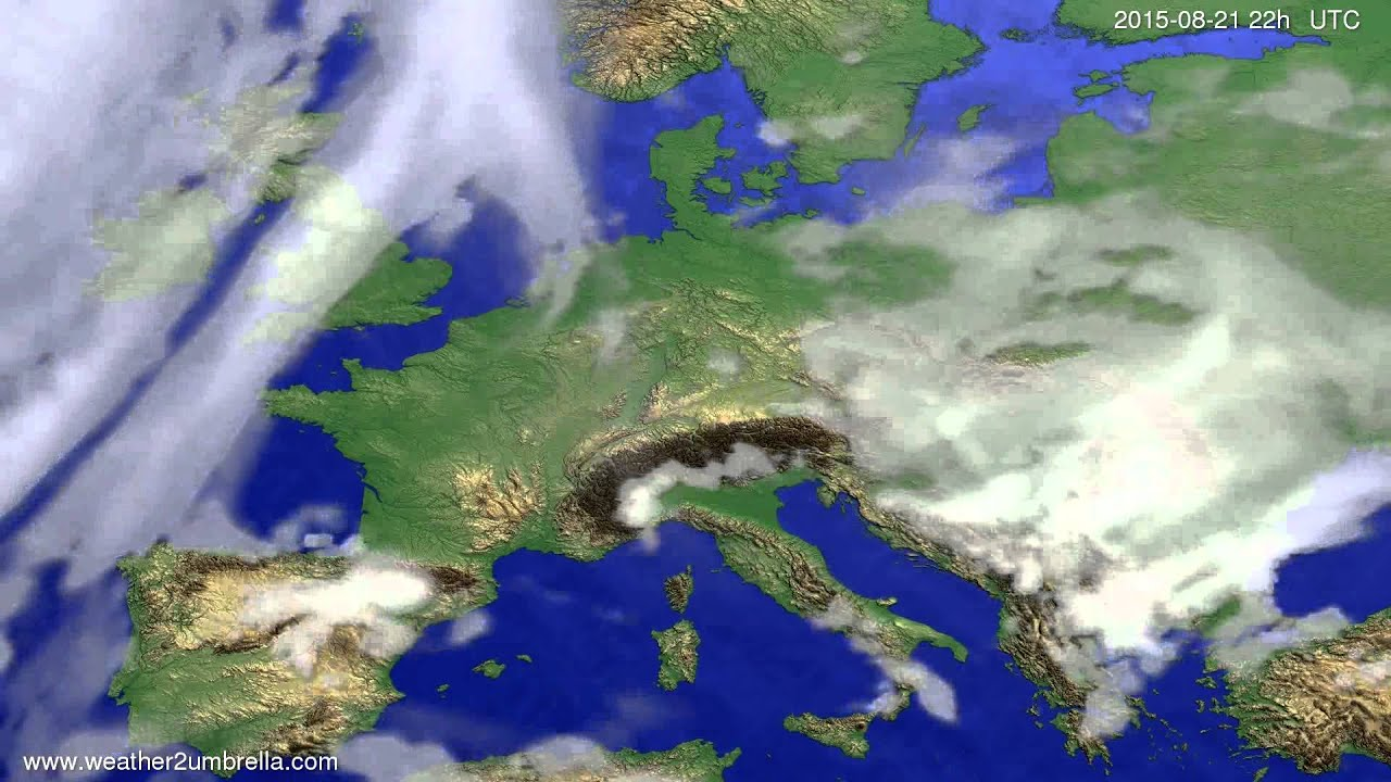 Cloud forecast Europe 2015-08-19