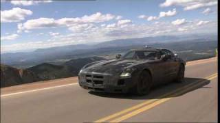 New Mercedes SLS AMG Gullwing 2011 Testing Pikes Peak USA