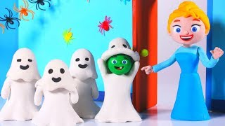 PRINCESS MEETS FRIENDLY GHOSTS • Superhero Babies Play Doh Cartoons For Kids