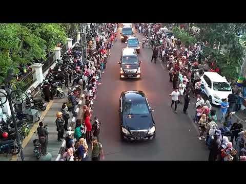 Ketatnya Pengawalan Presiden Jokowi di Karnaval Kemerdekaan Bandung