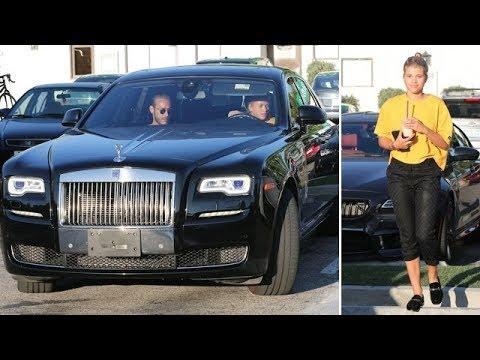 Sofia Richie Driving Daddy's Rolls Royce In Malibu