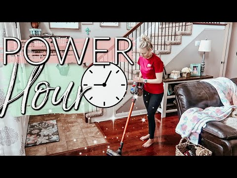 POWER HOUR ULTIMATE CLEANING ROUTINE|CLEAN WITH ME 2019|EXTREME CLEANING MOTIVATION|JESSI CHRISTINE