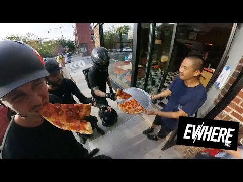 Electric Unicycle Unlocks FREE PIZZA & TRAFFIC CONE FAIL! Gotway MSuper X / King Song 18L / Brooklyn