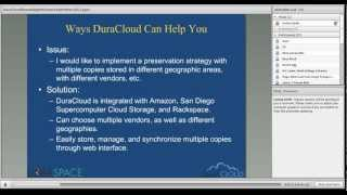 DuraCloud Brown Bag Series: Ways DuraCloud Can Help You!