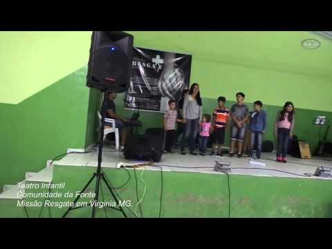 Teatro Infantil Comunidade da Fonte Missão Resgate em Virginia MG 26 03 2008
