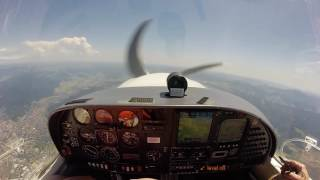Houssen France  city pictures gallery : Flight from LFGA to LOIH in a DA40