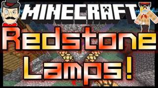 Minecraft REDSTONE LAMPS ! Switch Lights On&Off !