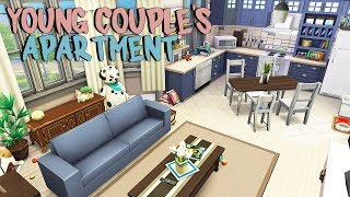 YOUNG COUPLE'S FIRST APARTMENT 👶   The Sims 4   Apartment Renovation Speed Build