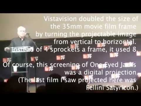 Martin Scorsese Introduces And Explains The Vistavision Of Marlon Brando's One-Eyed Jacks 2016 10 09