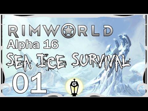 Let's Play RimWorld A16 Sea Ice Survival Ep 1 | 6 Million Dollar Man vs Wild