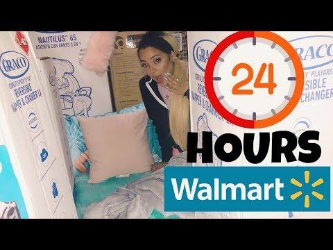 24 hour overnight challenge at walmart + we built 2 big forts (видео)