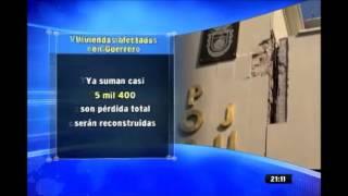 Casi 5 mil viviendas afectadas en Guerrero por sismo del 18 de abril