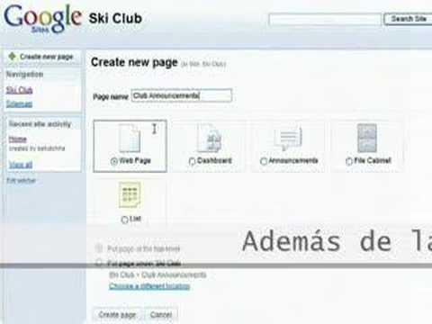 Google Sites: recurso gratuito para un web site básico