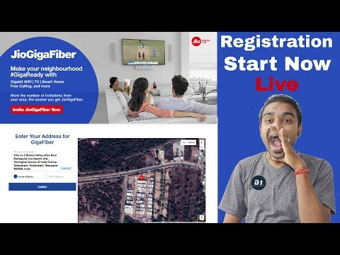 How To Register Jio Giga Fiber BroadBand - Live Registration In Jio.com & My Jio App - जल्दी करो !!