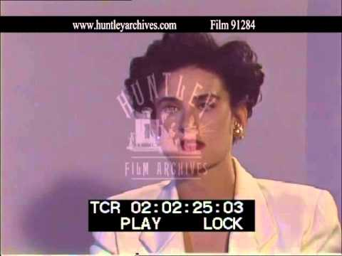 "Demi Moore speaks about the film ""Ghost"", 1990's - Film 91284"