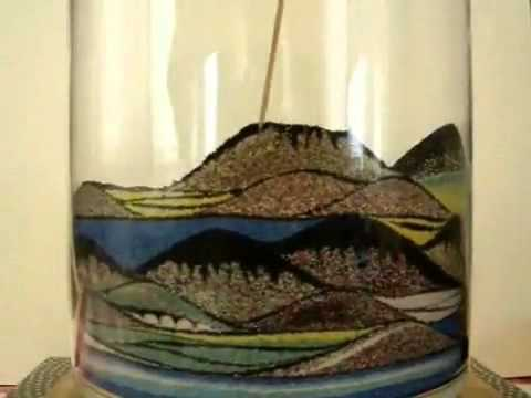 Sand Art In A Glass Container