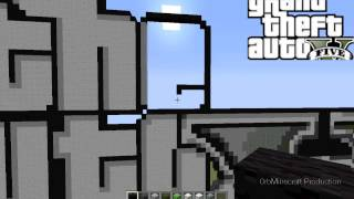 Grand Theft Auto V Logo Timelapse - Minecraft Timelapse Episode 9 Part #3