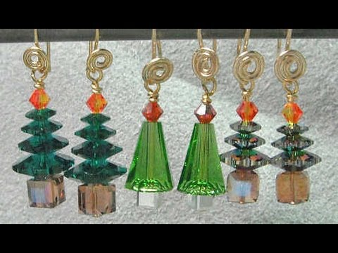 Christmas Tree Earrings Video Tutorial