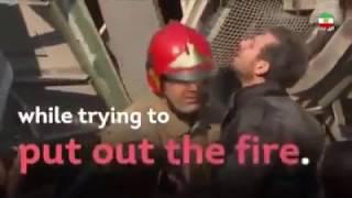 ادای احترام شاهزاده رضا پهلوی به جانباختگان آتش نشان فداکار حادثه پلاسکو