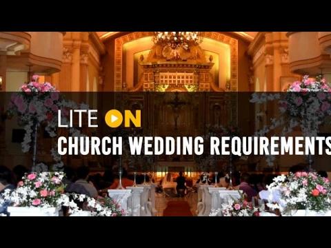Church wedding requirements