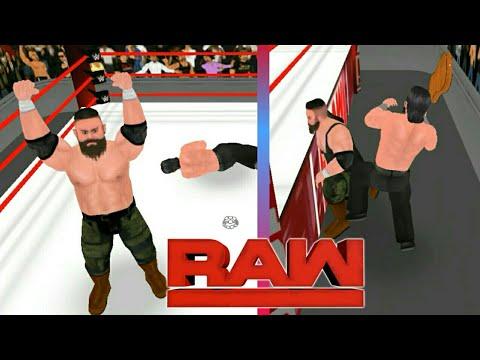 John Cena vs. Braun Strowman vs. Elias - Winner Enters Elimination Chamber Last:Raw-WR3d