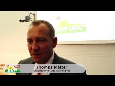 Thomas Matter zur Problematik der AIA-Abkommen