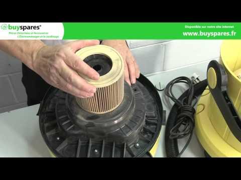 Comment remplacer la cartouche filtrante d'un aspirateur Karcher eau et poussière.