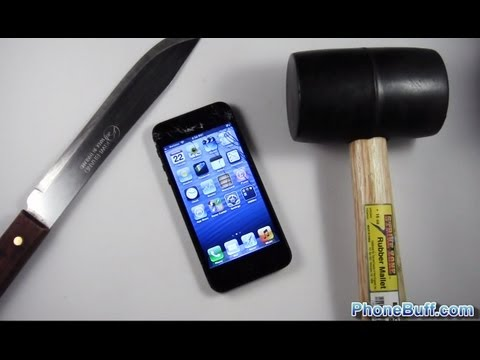 iphone 5 oficial video - Watch the other destruction videos: The Drop Test: http://youtu.be/DuwD7pdxxyo The Car Test: http://youtu.be/m669QDakJNg Pricing & Availability: http://amzn....