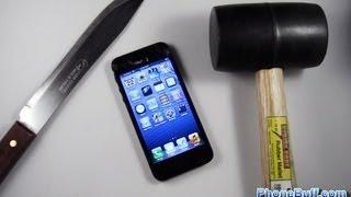 Apple IPhone 5 Hammer Drop&Knife Scratch Test