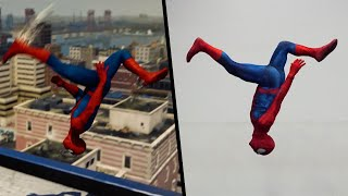 Stunts From Spiderman PS4 In real Life (Parkour, Marvel)