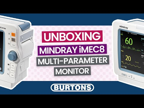 Mindray iMec8 Multi-Parameter Monitor Unboxing and Accessories run through