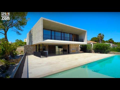 1600000€/600м до моря/Уникальный элитный дом в Испании/Новая вилла с видом на море/Хай Тек/Морайра