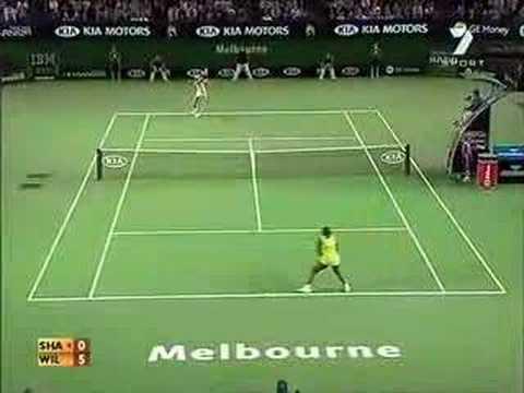 Maria Sharapova hits Serena Williams