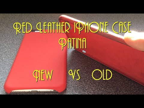Red Leather iPhone Case Patina - New Vs Old