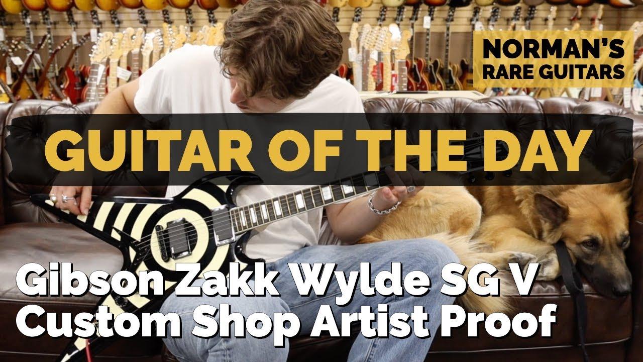 Guitar of the Day: Gibson Zakk Wylde SG V Custom Shop Artist Proof | Norman's Rare Guitars