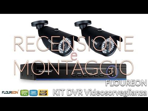 RECENSIONE e COME MONTARE Kit DVR videosorveglianza FLOUREON AHD 720P